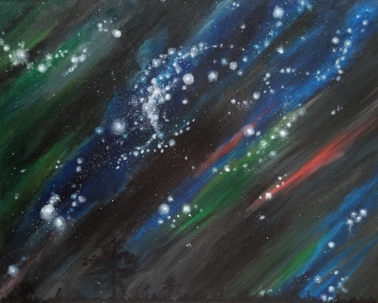 """Night Sky"". Leah Porter, Acrylic on Canvas."
